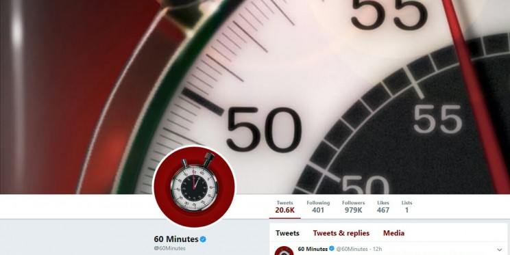 60 Minutes Twitter Account