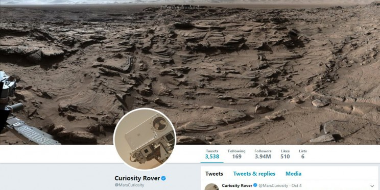 Curiosity Rover Twitter Account