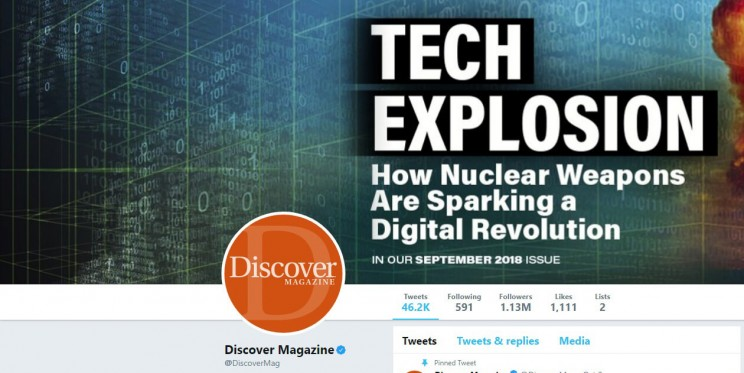 Discover Magazine Twitter Account