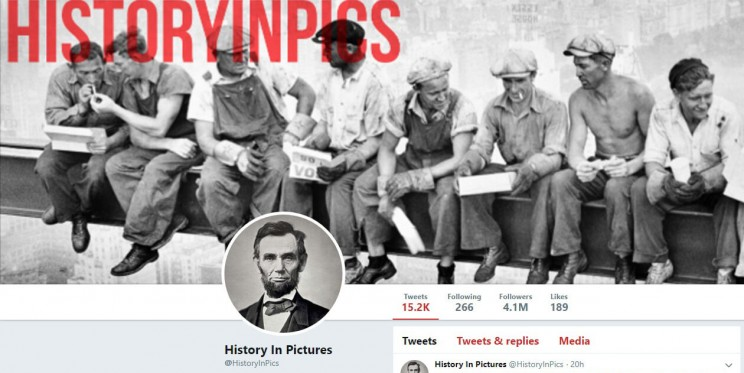 History In Pictures Twitter Account