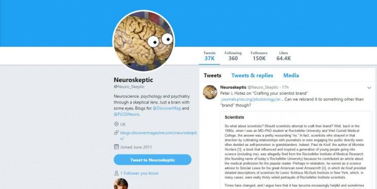 Neuroskeptic Twitter Account