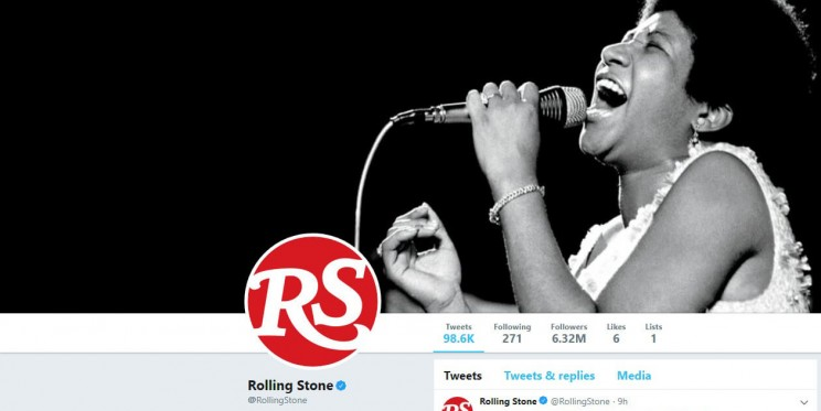 Rolling Stone Twitter Account