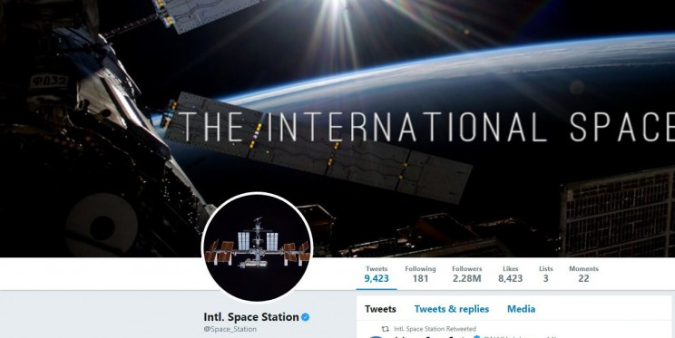 ISS Twitter Account