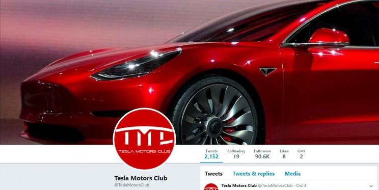 Tesla Motors Club Twitter Account