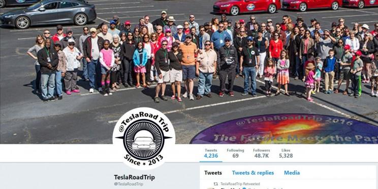 Tesla Road Trip Twitter Account