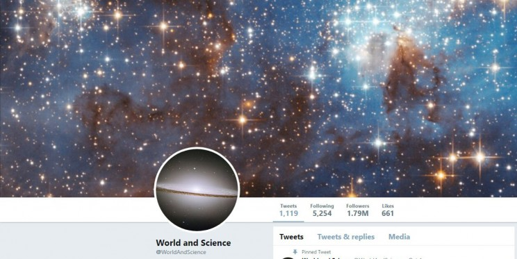 World and Science Twitter Account