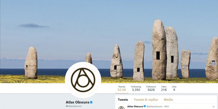 Atlas Obscura Twitter Account