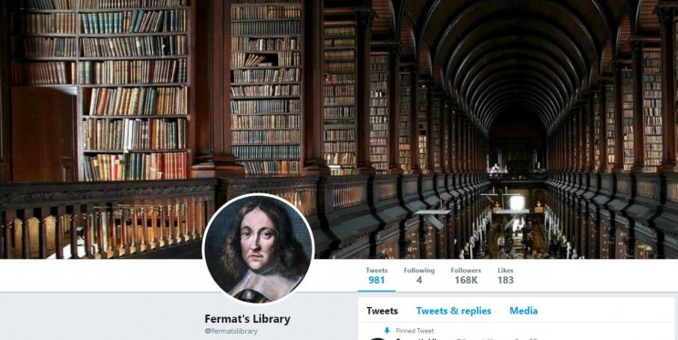 Fermat's Library Twitter Account
