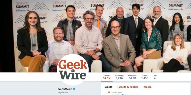 GeekWire Twitter Account