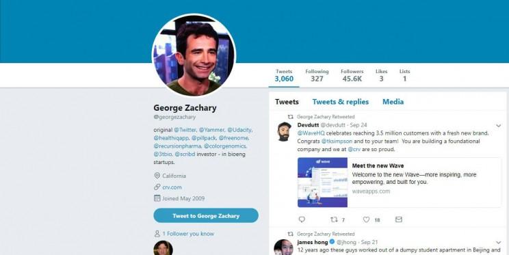 George Zachary Twitter Account