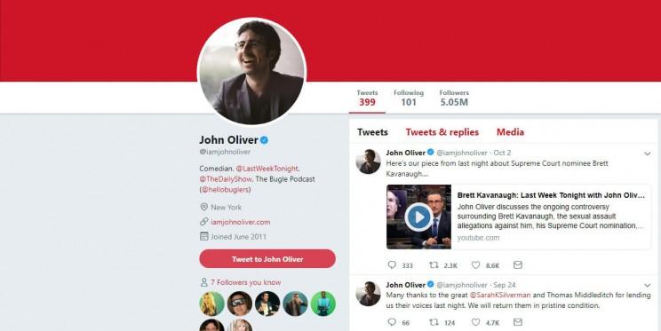 John Oliver Twitter