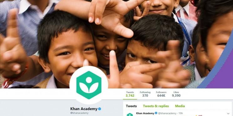 Khan Academy Twitter Account