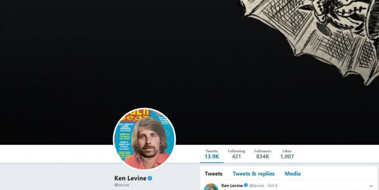 Ken Levine Twitter Account