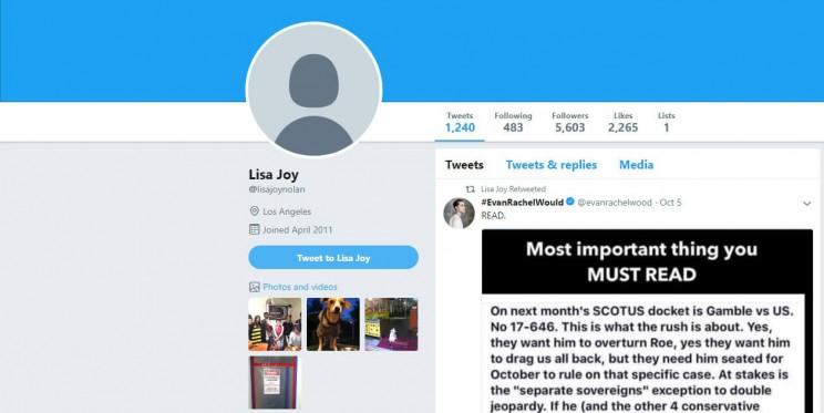 Lisa Joy Twitter Account
