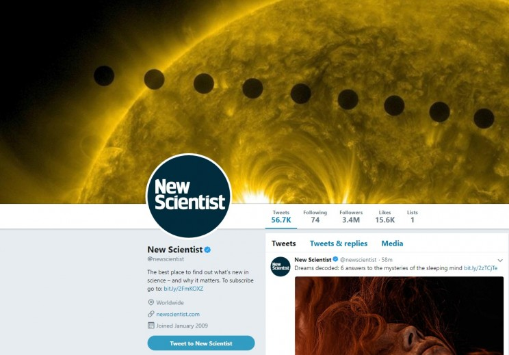 New Scientist Twitter Account