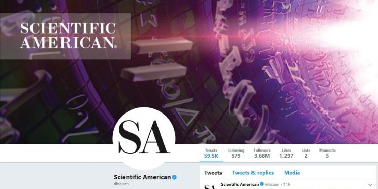 Scientific American Twitter Account