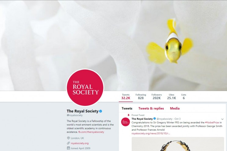 The Royal Society Twitter Account