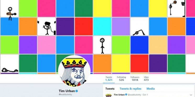 Tim Urban Twitter Account