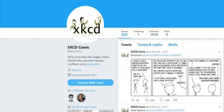 XKCD Comic Twitter Account