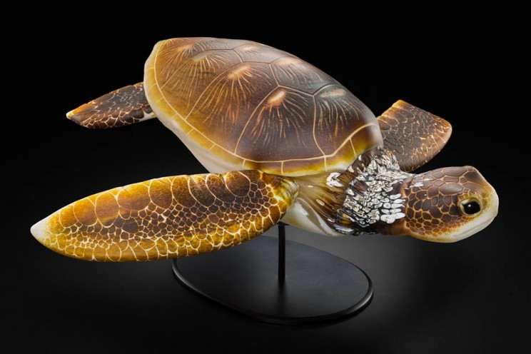 This Glass Artist Created a Sea Turtle Sculpture So Lifelike You'll Swear It's Real
