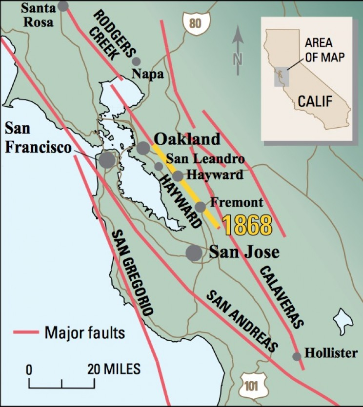Hayward Fault 1868 Earthquake
