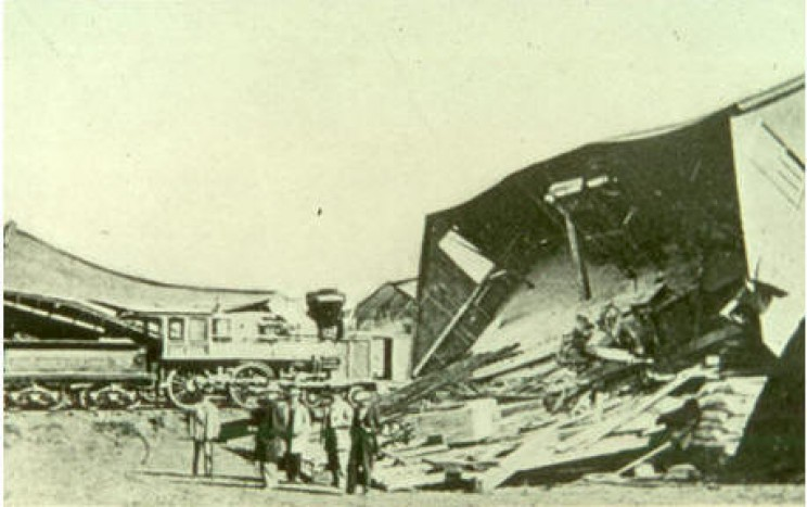 Hayward Fault 1868 Earthquake damage