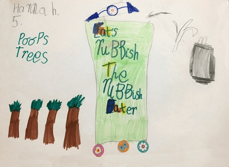 inventions by children trash eater