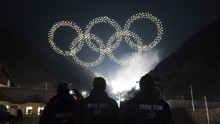 Intel's 1,218 Drone Light Show Broke Records at the Winter Olympics Opening Ceremony