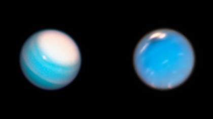 Hubble Shows Just How Stormy Uranus Gets in The Summer