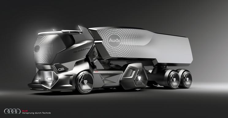 Audi Concept Sketches Look Like an Impressive Tesla Semi Competitor