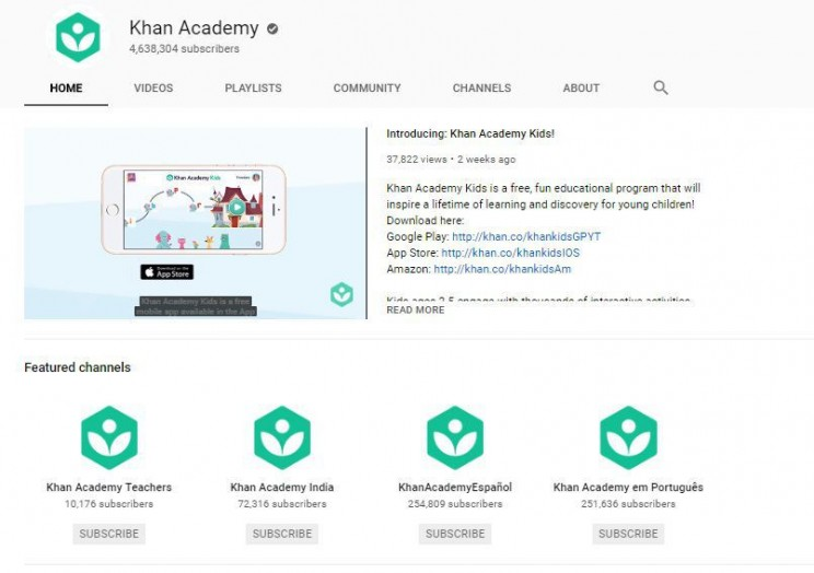 biology youtube channels Khan Academy