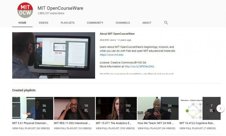 biology youtube channels MIT Opencourseware