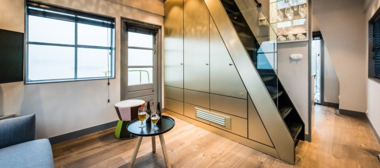 This Old Crane Is Converted into a Luxurious Two Bedroom Apartment