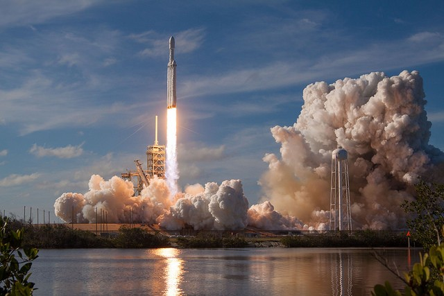 SpaceX's Largest Rocket, Falcon Heavy, Just Sent A Tesla Roadster into Orbit