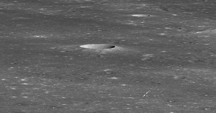 NASA Snaps Picture of Chang'e 4 Lander in a Crater on the Far Side of the Moon