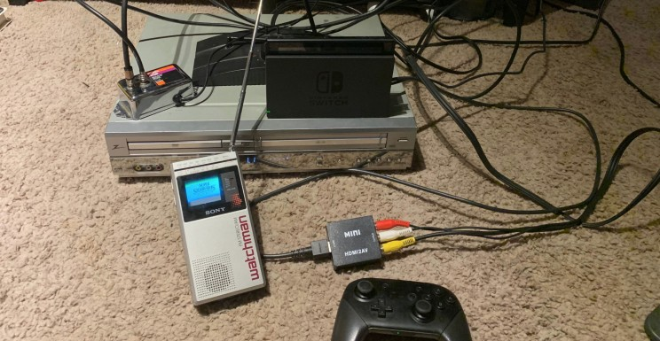 Do You Remember Sony's Watchman? This Guy Runs Super Smash Brothers on It!