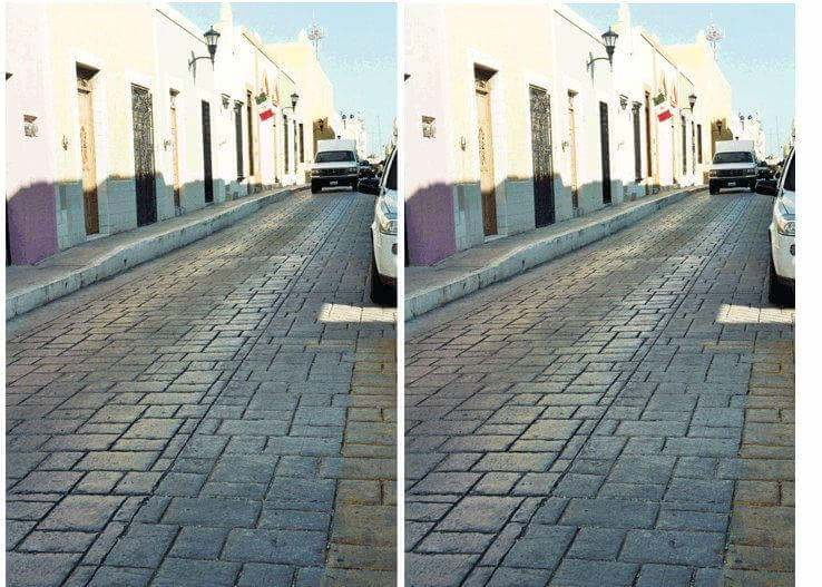 This Baffling Optical Illusion Makes Two Identical Street Photos Appear Different