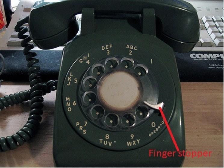 rotary phone alphanumeric dial