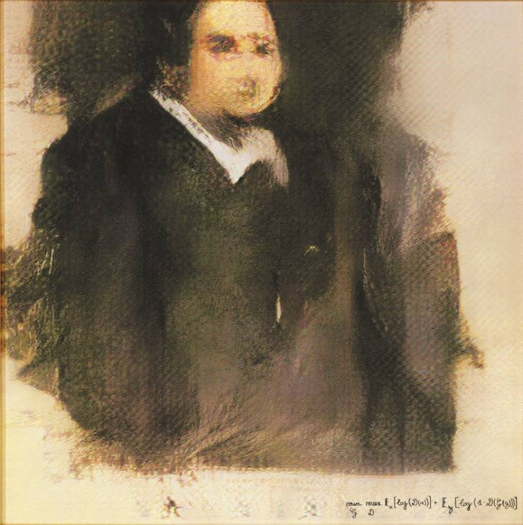 AI Art Portrait of Edmond de Belamy