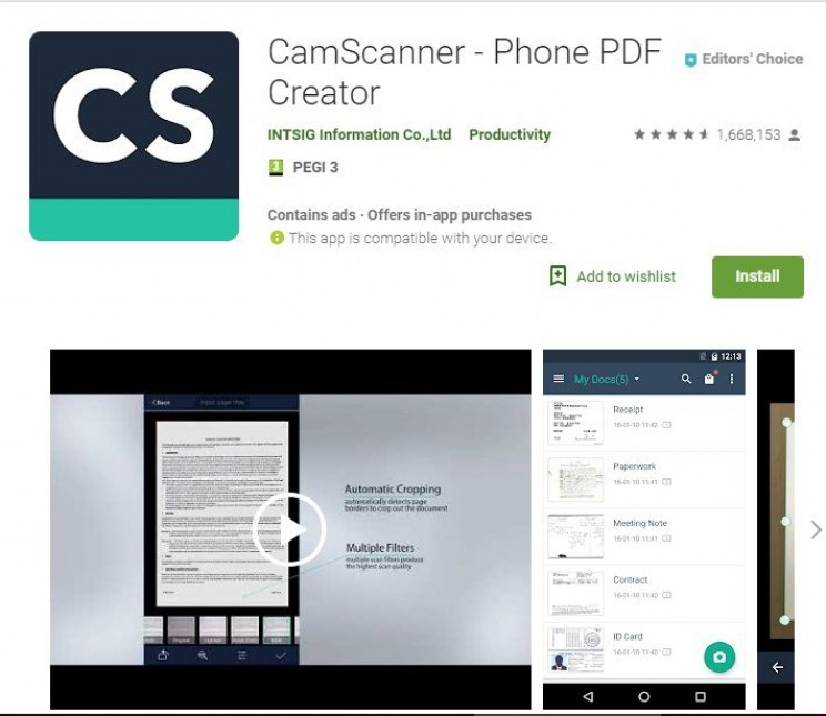 Best Android Apps for Engineers CamScanner