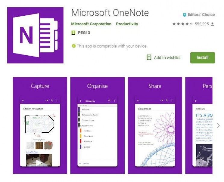 Best Android Apps for Engineers OneNote