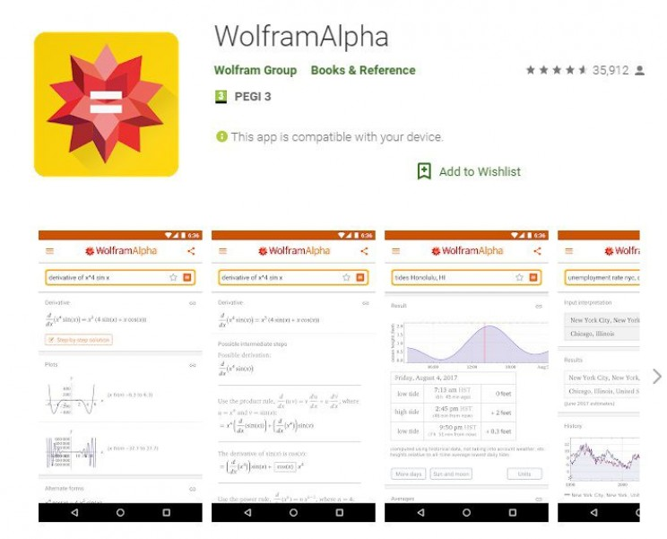 Best Android Apps for Engineers Wolfram Alpha