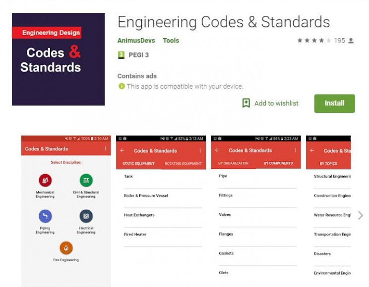 Best Android Apps for Engineers codes