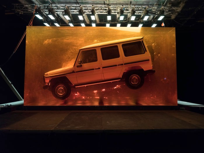 Mercedes Encases 1979 G-Class in 44.4 Tonnes of Synthetic Resin