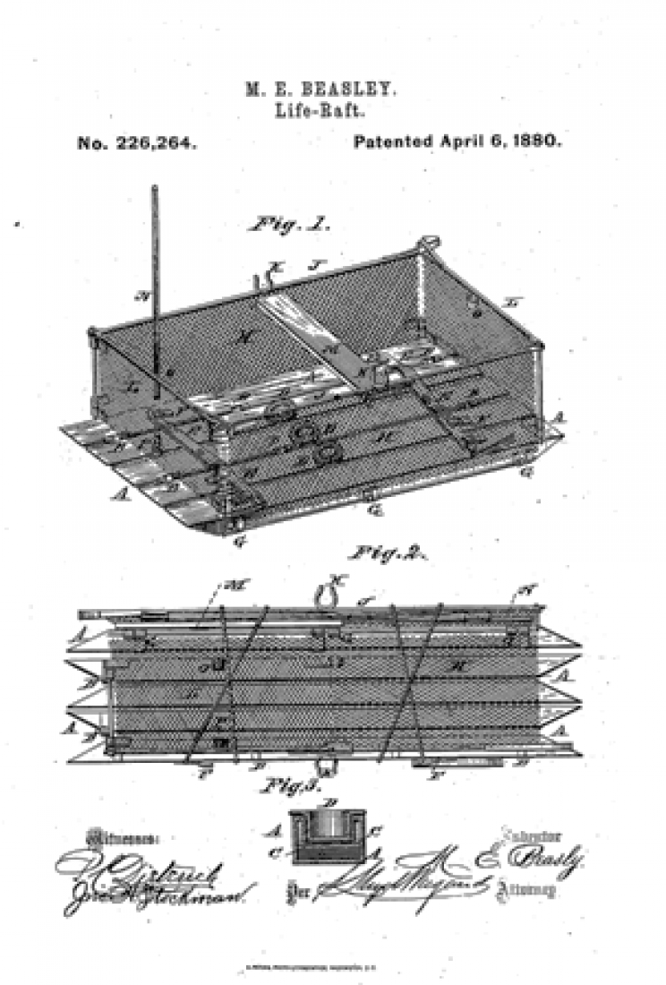 Maria Beasley Patented Life Raft Design