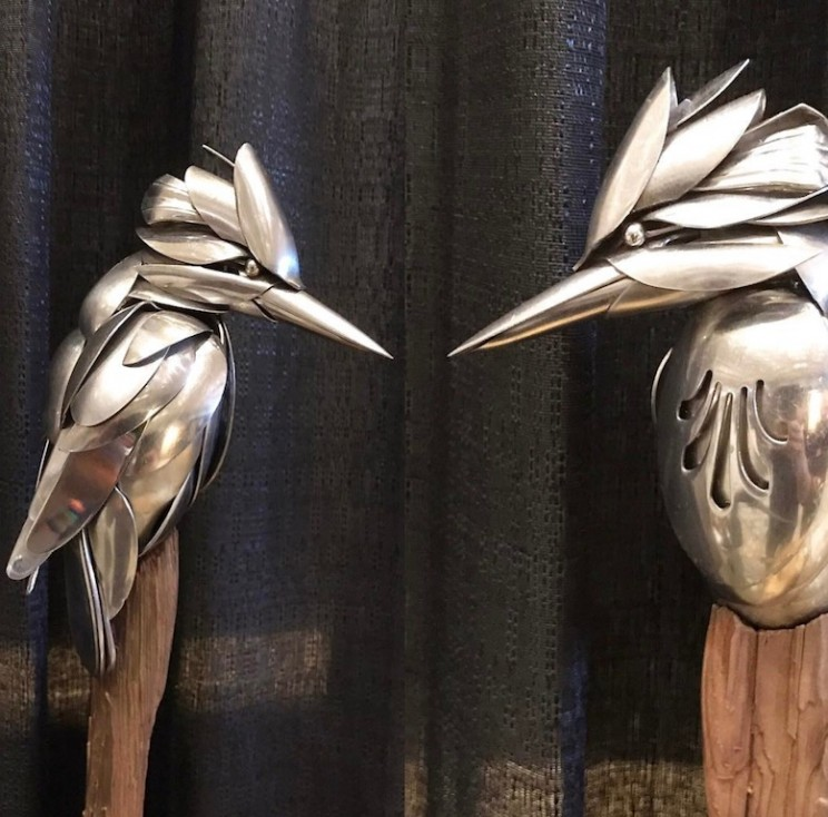 This Artist Uses Recycled Silverware and Scrap Metal to Create Beautiful Sculptures