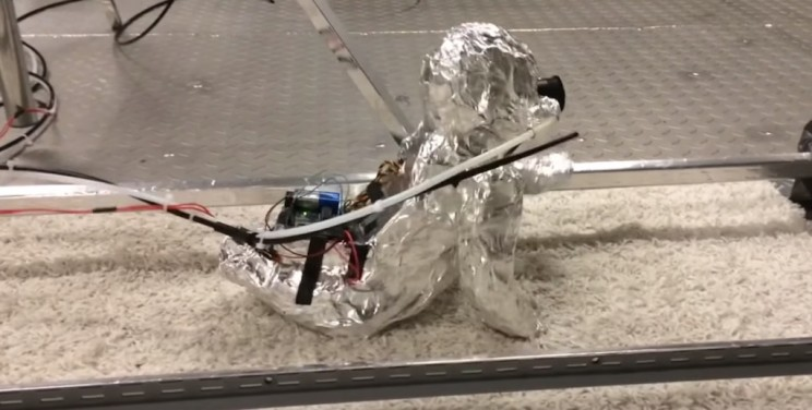 This Creepy Tin Foil Robot Helps Scientists Understand What Crawling Babies Inhale