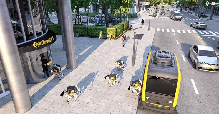 Continental's Robot Dogs Solve Last Meter Obstacle to Automated Delivery