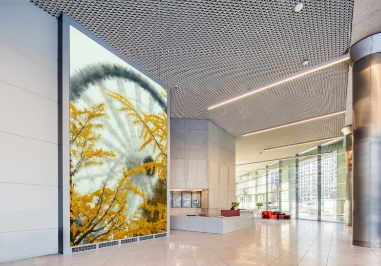 This Massive Artwork on Display in a Lobby in Chicago is Painted by an Algorithm