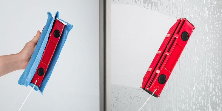Keep Your Windows Crystal-Clean with This Magnetic Solution